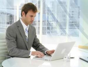an online resume writer at work