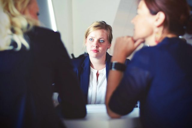 Woman trying to postpone a job offer