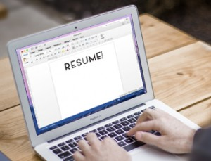 applicant writing a resume