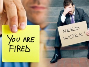 You are fired and need work signage