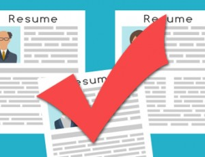 Resumes with right format