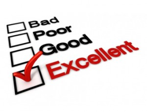 Bad, Poor, Good, and Excellent Checklist