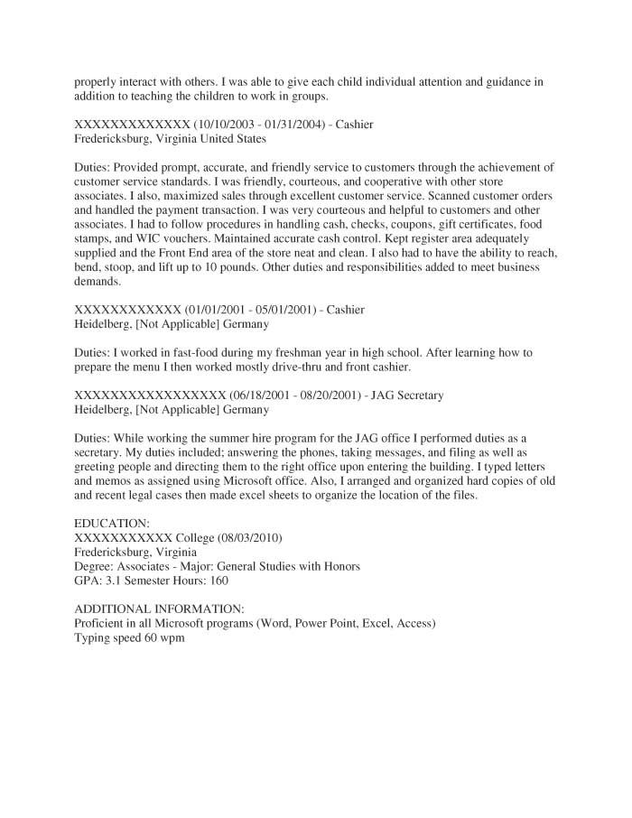 Entry-Level Office Administration and Support Resume Sample - Before-3