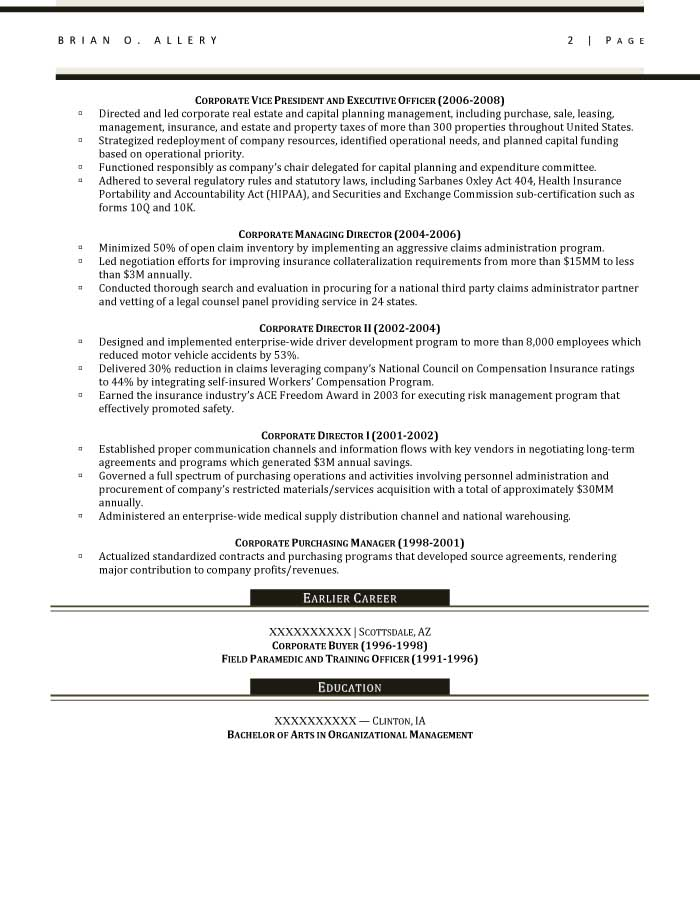 chief operations officer resume sample after 1 - Procurement Resume Sample