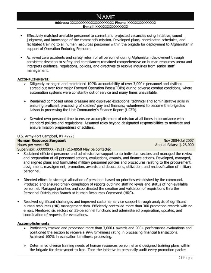 Mission Support Specialist Resume Sample - After-2