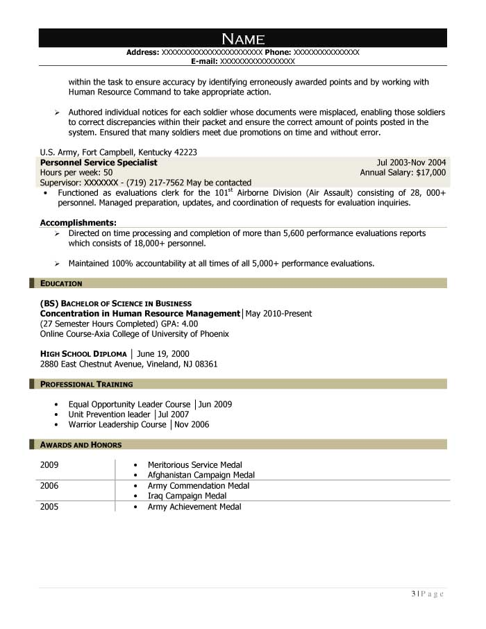 Mission Support Specialist Resume Sample - After-3