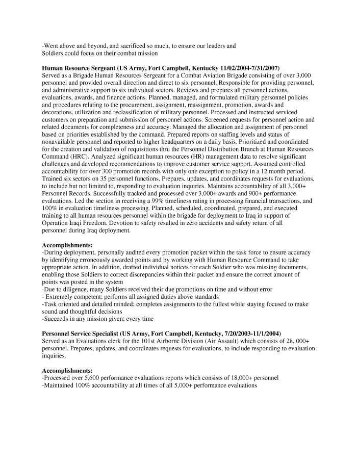 Mission Support Specialist Resume Sample - Before-2
