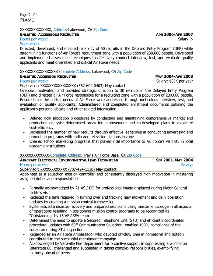 Supervisory Human Resources Specialist Resume Sample - After-2