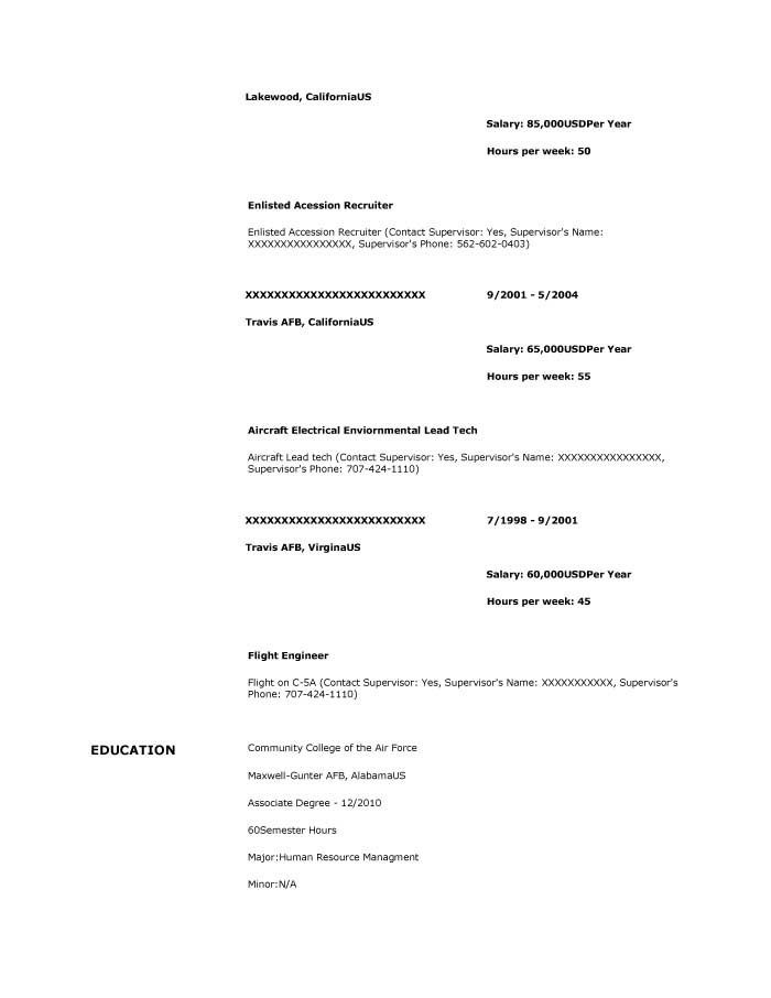 Supervisory Human Resources Specialist Resume Sample - Before-2