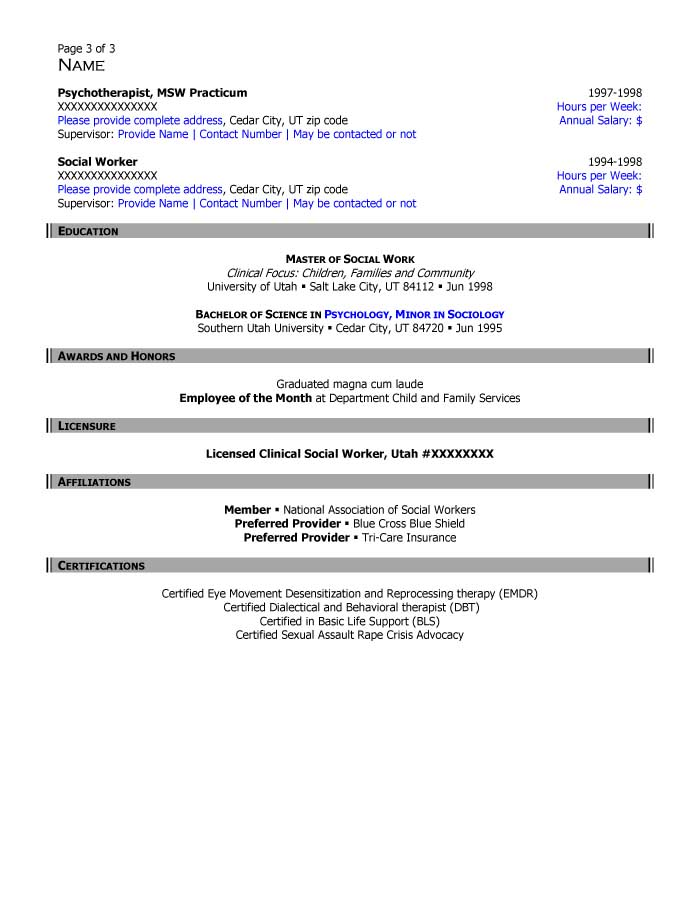 Social Worker | Critical Time Intervention Case Manager Resume Sample - After-3
