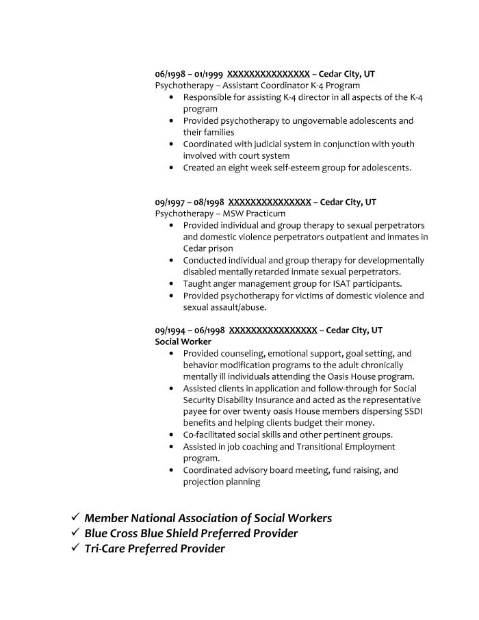 Social Worker | Critical Time Intervention Case Manager Resume Sample - Before-4