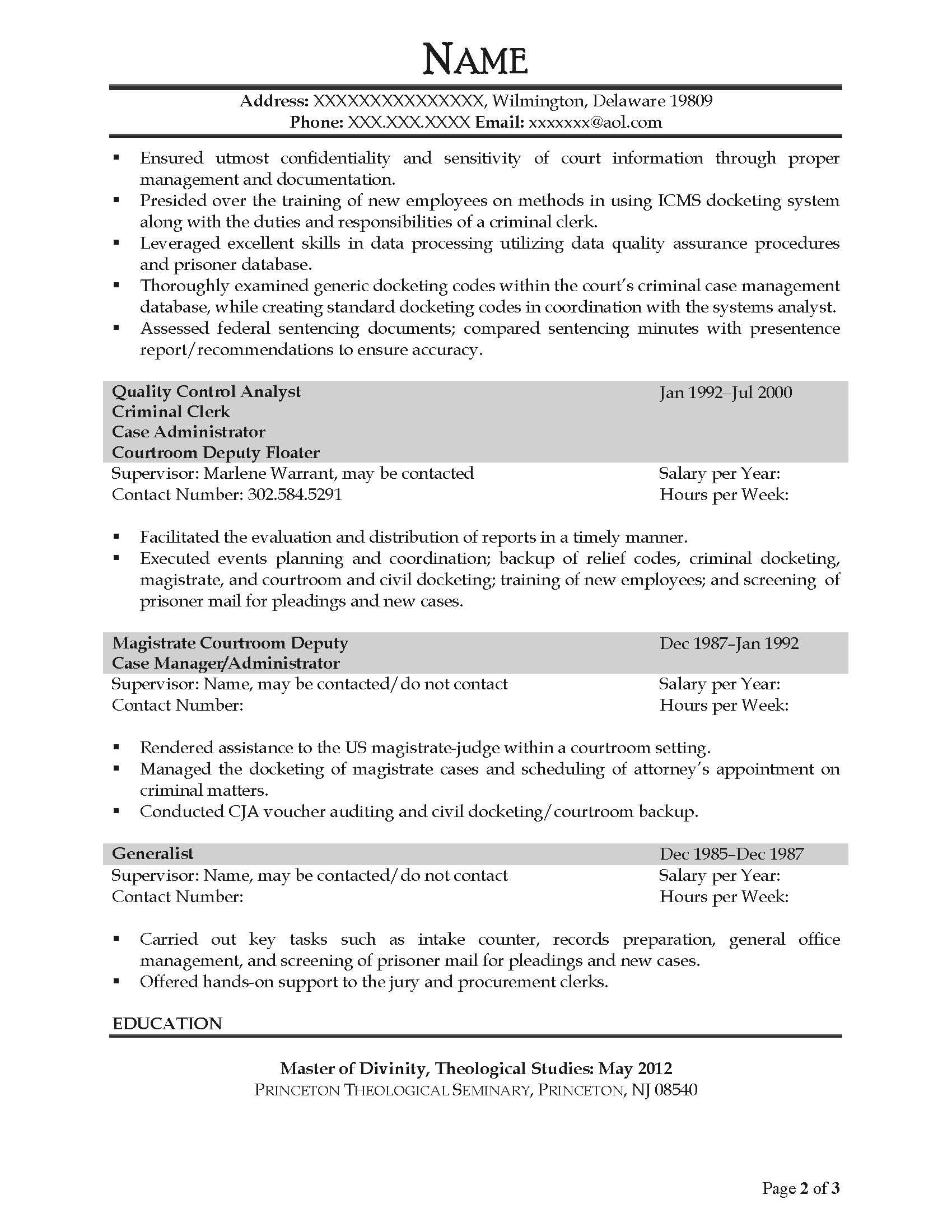 Case Administrator Resume Sample - After-2