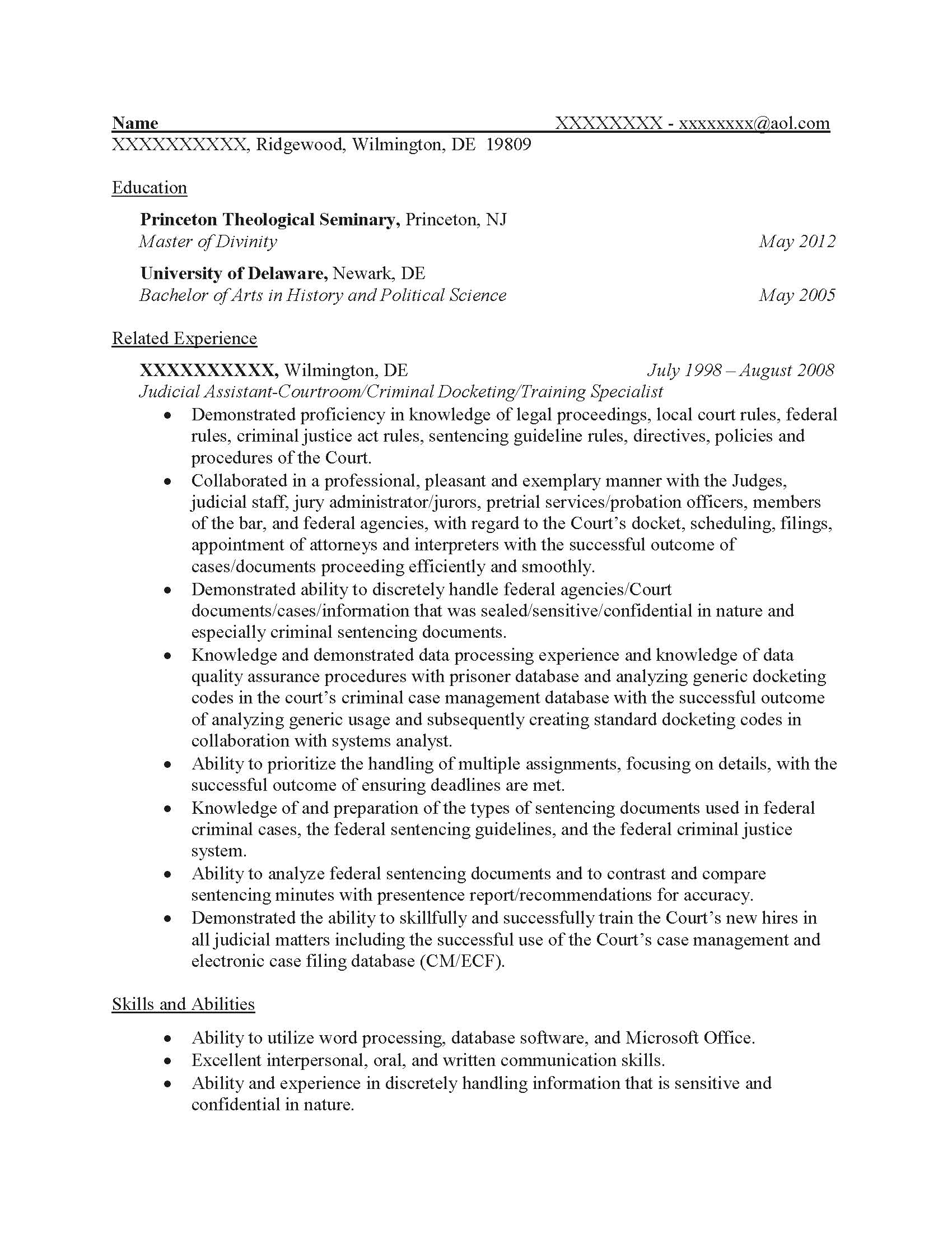 Case Administrator Resume Sample   Before 1  Sample Federal Resume