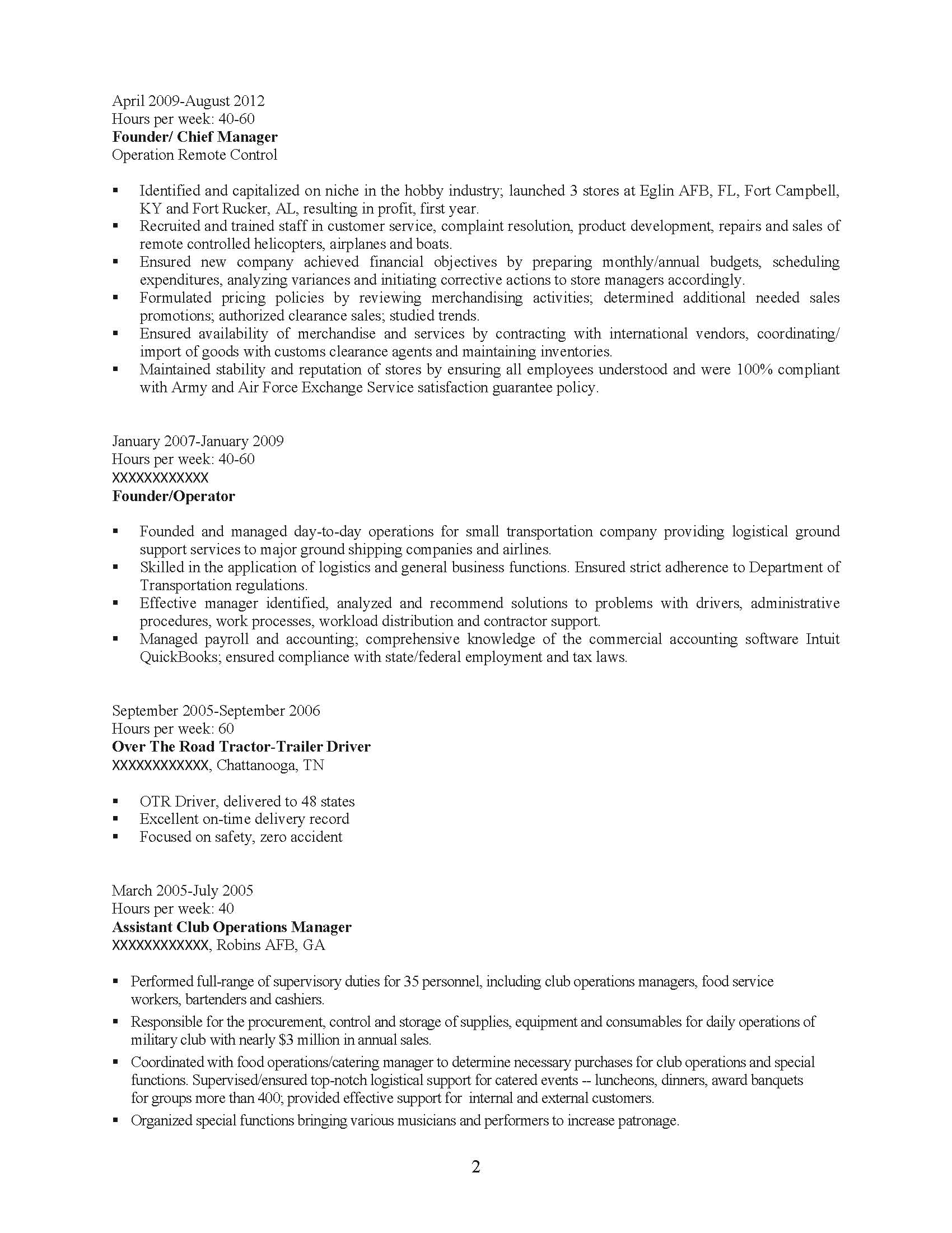 senior management professional resume sample before 2 - Security Forces Resume