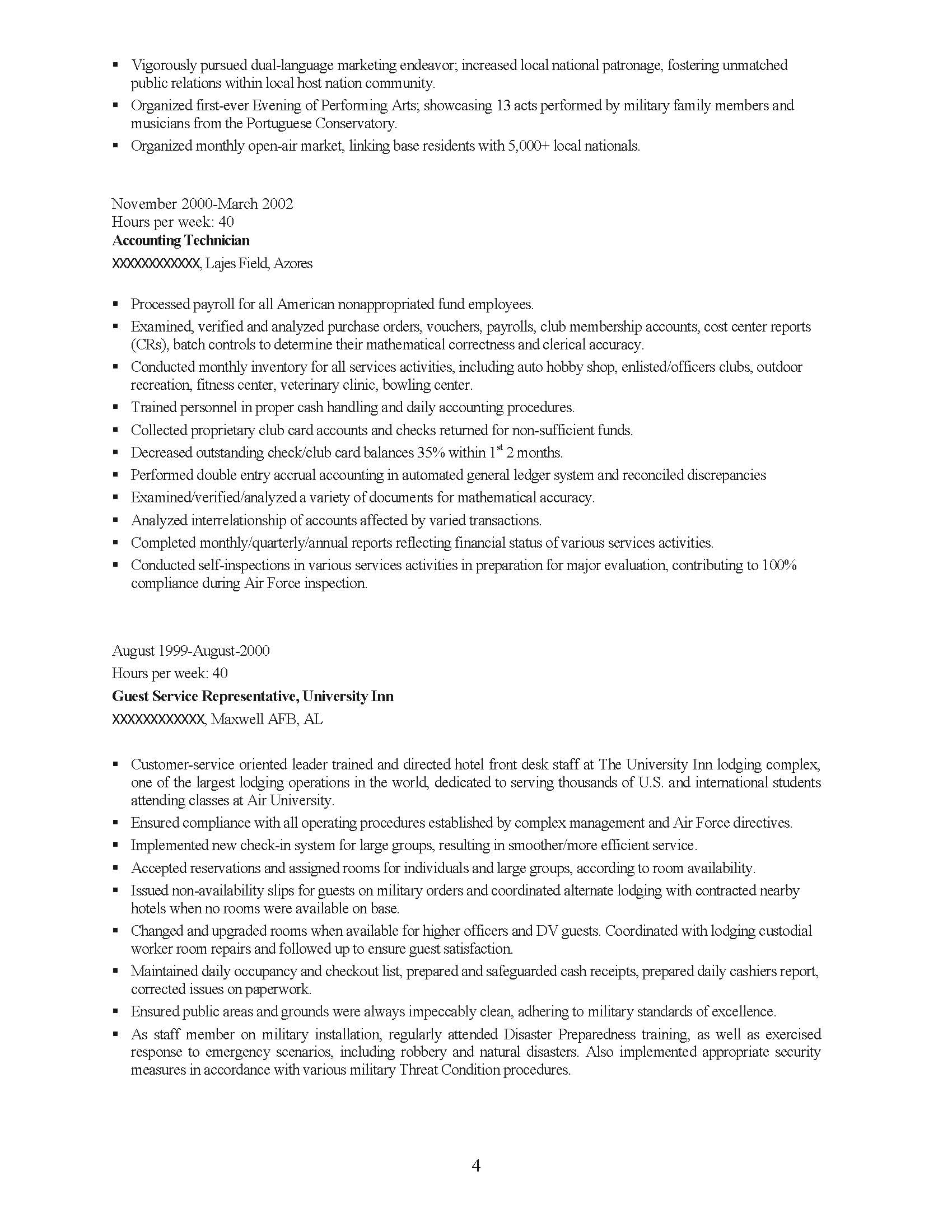 Senior Management Professional Resume Sample - Before-4