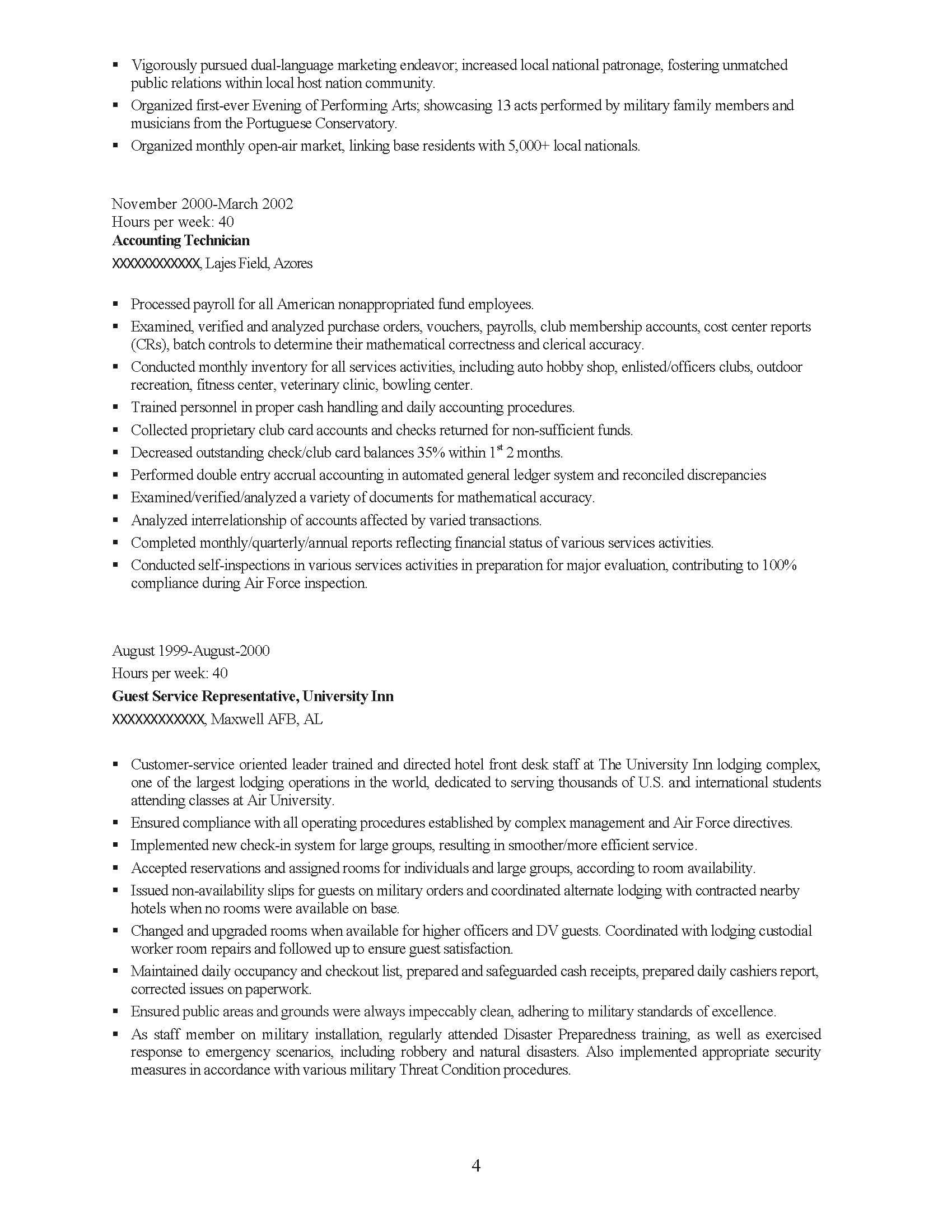 Senior Management Professional Resume Sample - Before-4