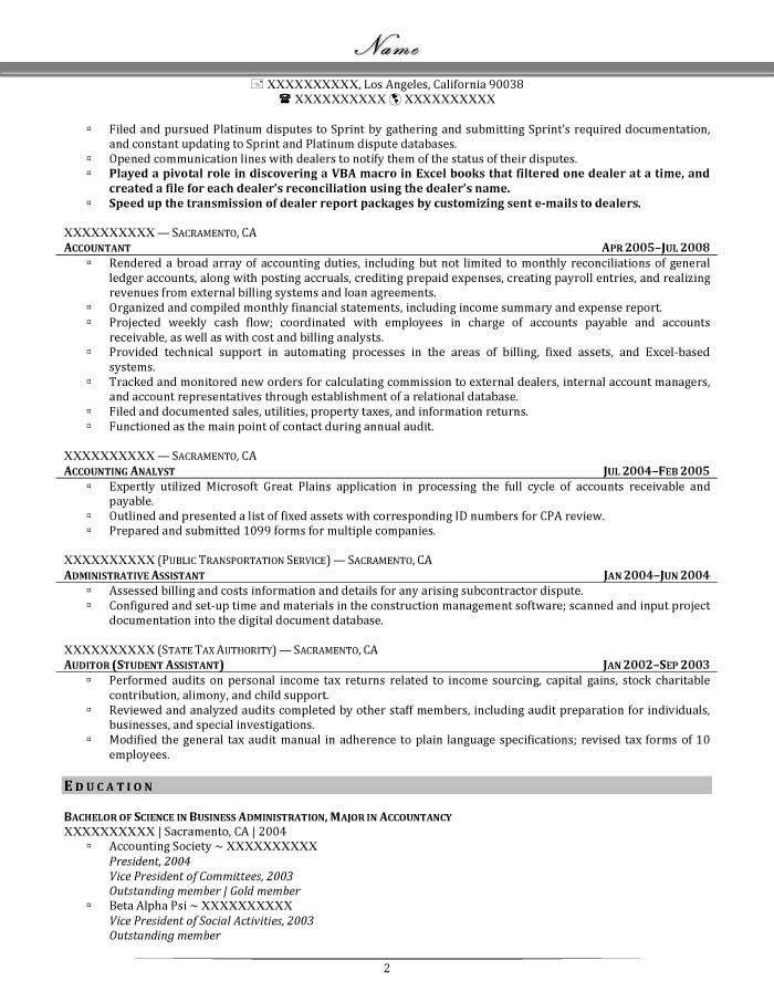 Senior Accountant Resume Sample - After-2