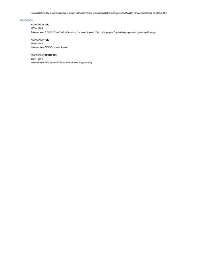 Business Intelligence Data Analyst Resume Sample - Before-2