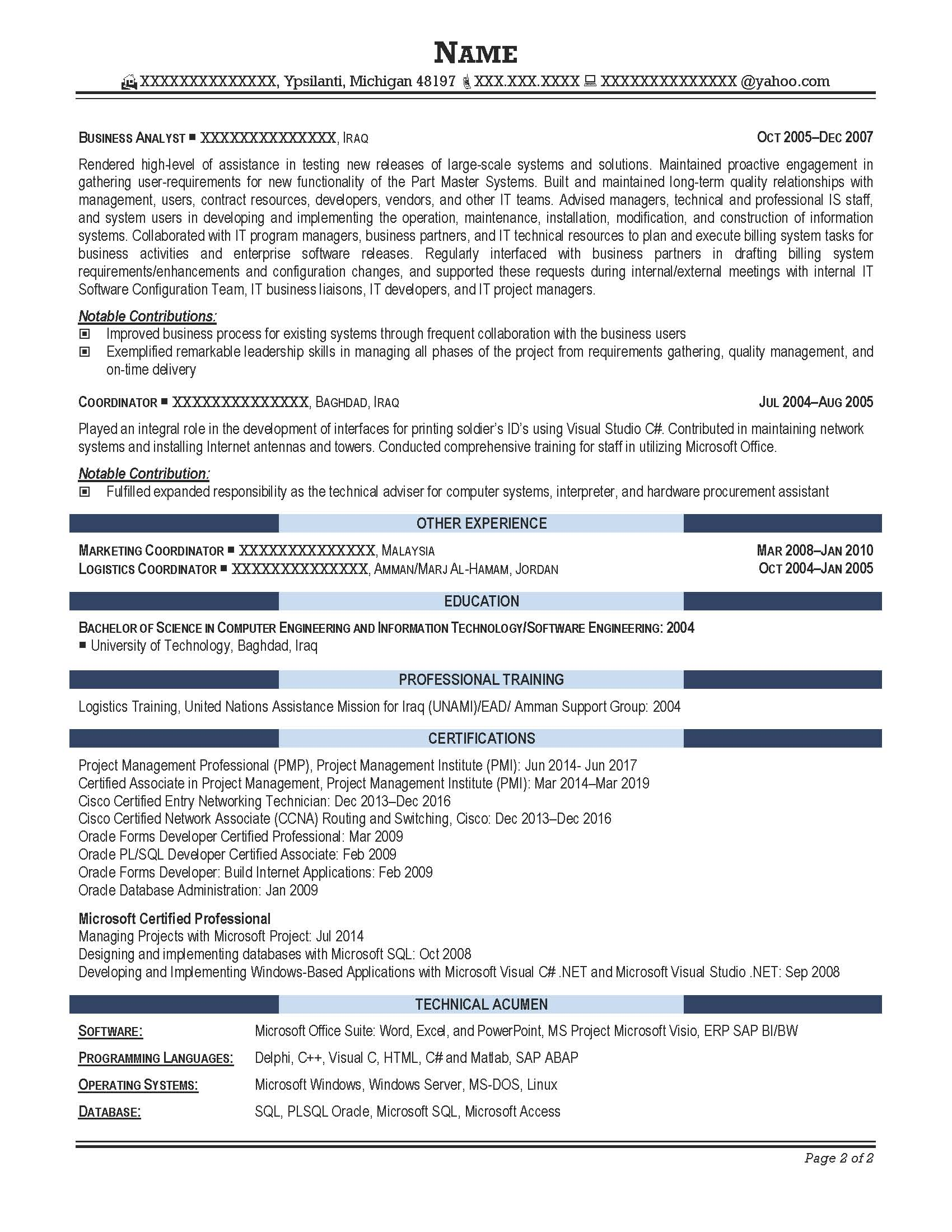 Catastrophe Analyst Resume  Data Analysis Resume