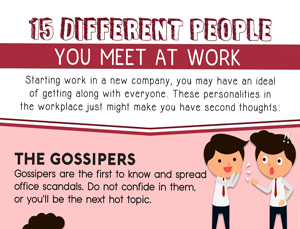 15 Different People You Meet at Work