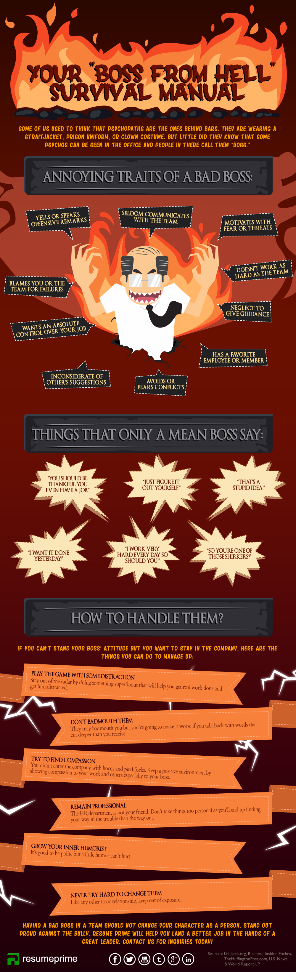 Tips on How to Deal with Your Bad Boss [Infographic]