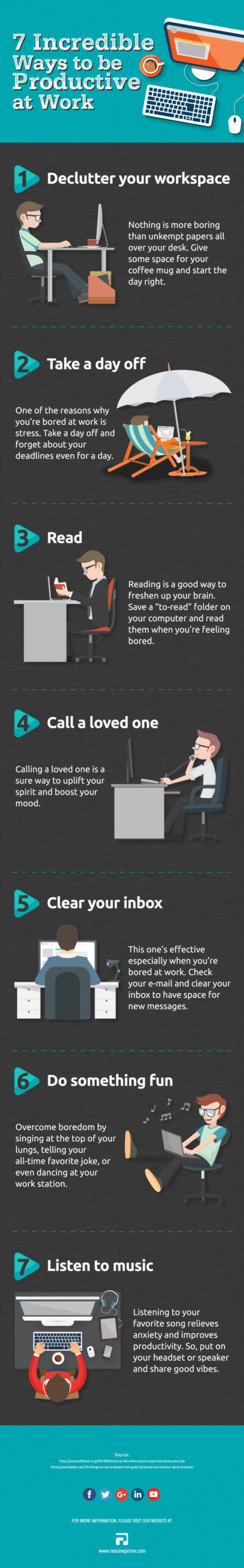 bored at work: infographic