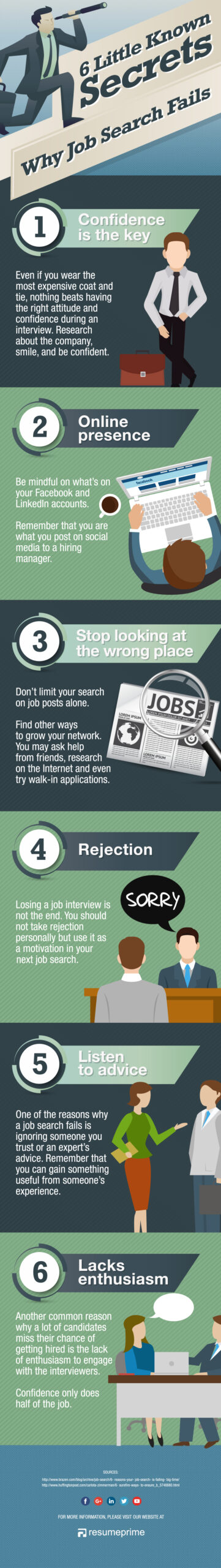 Job Search Fails: 6 Pitfalls to Watch Out For [Infographic]