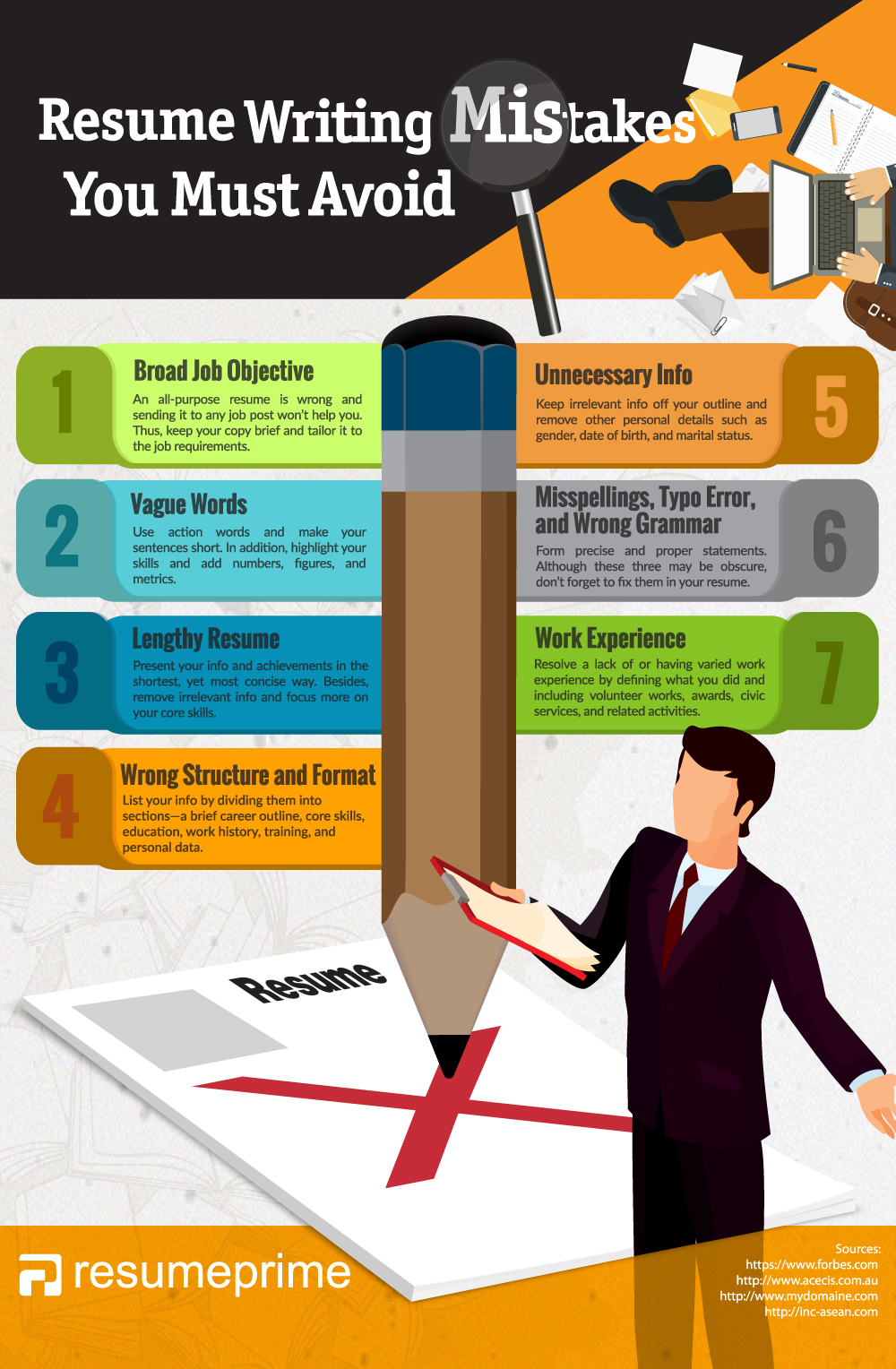 resume writing mistakes