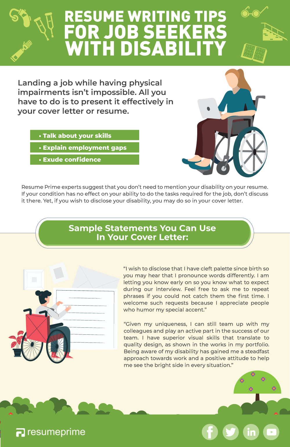 Tips on how to mention disability in resume