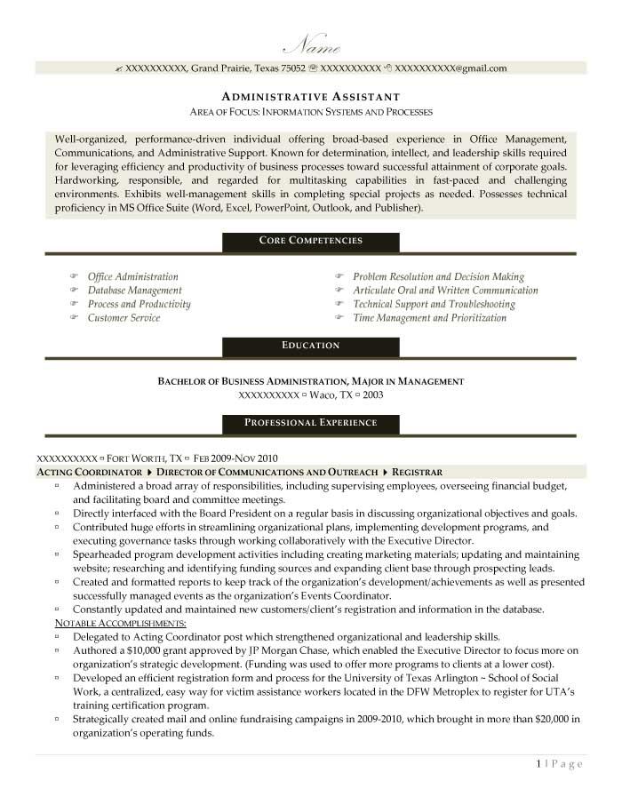 Administrative Assistant Resume Sample - After