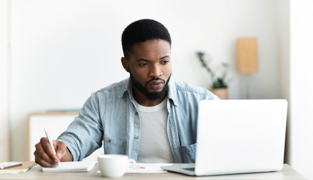 job seeker looking for resume skills examples online to use on his resume
