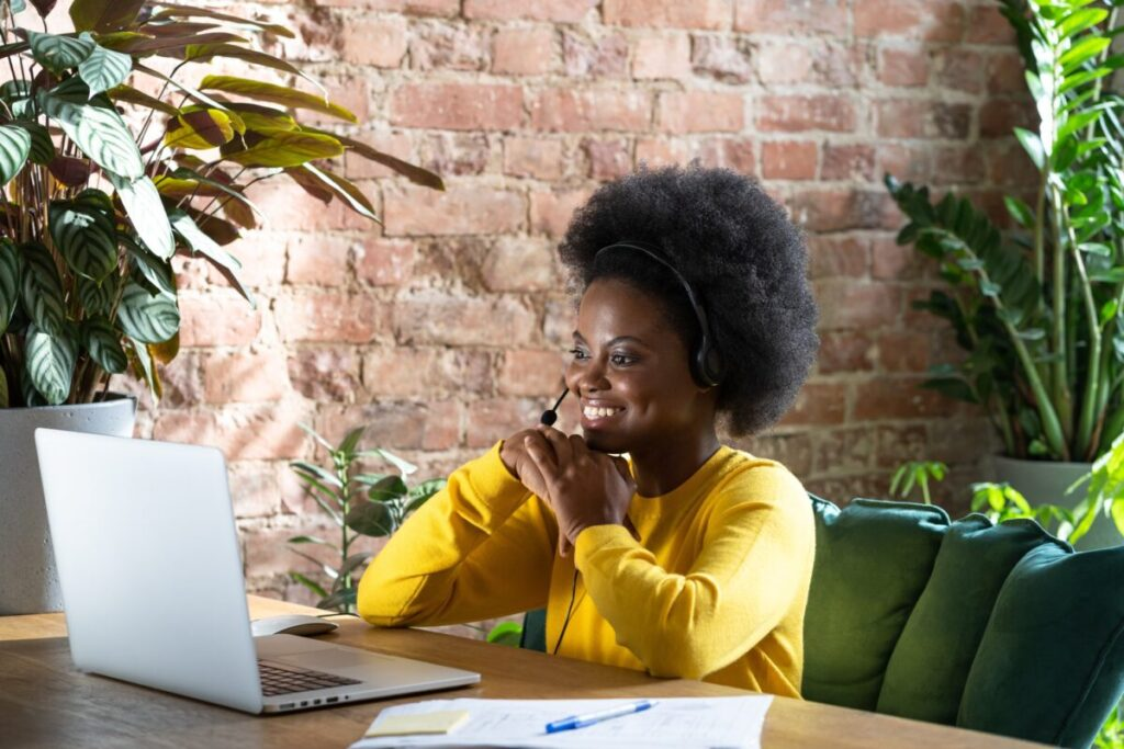 woman job seeker heeding video interview tips for her job hunt
