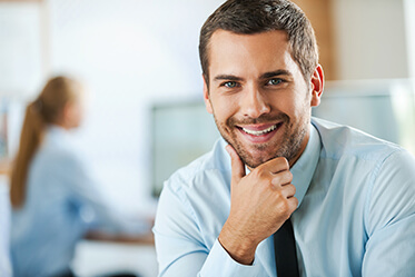 Corporate Man Smiling Confidently