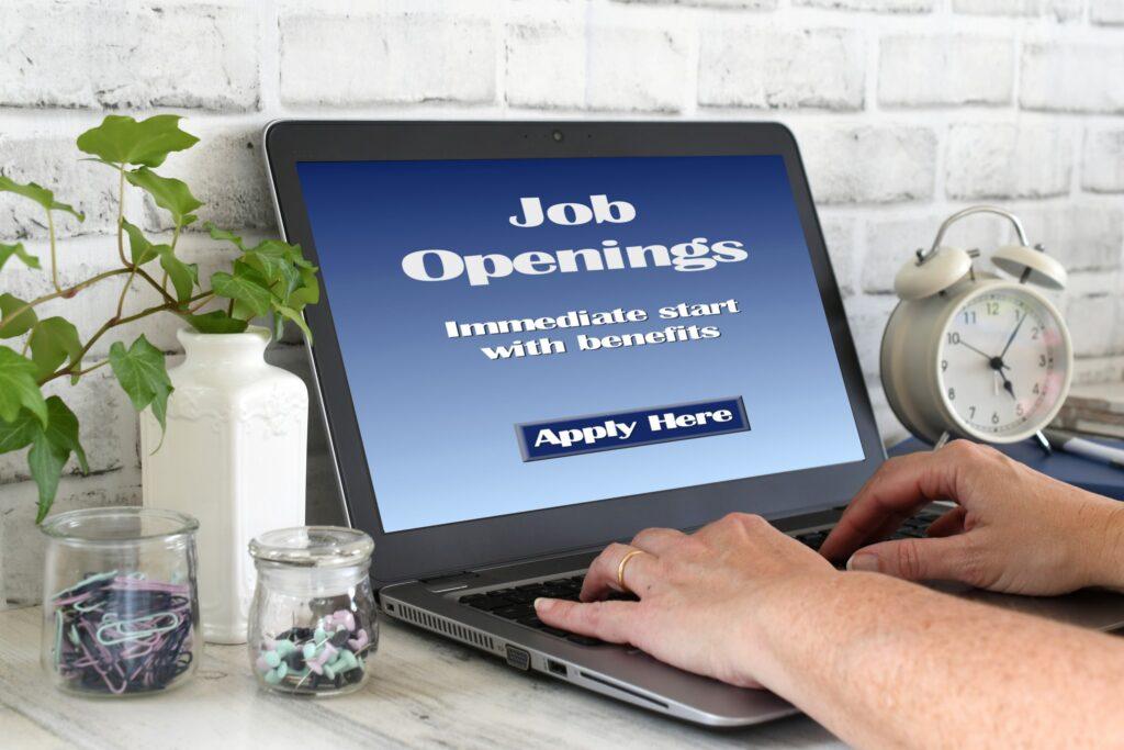 job seeker looking for jobs online